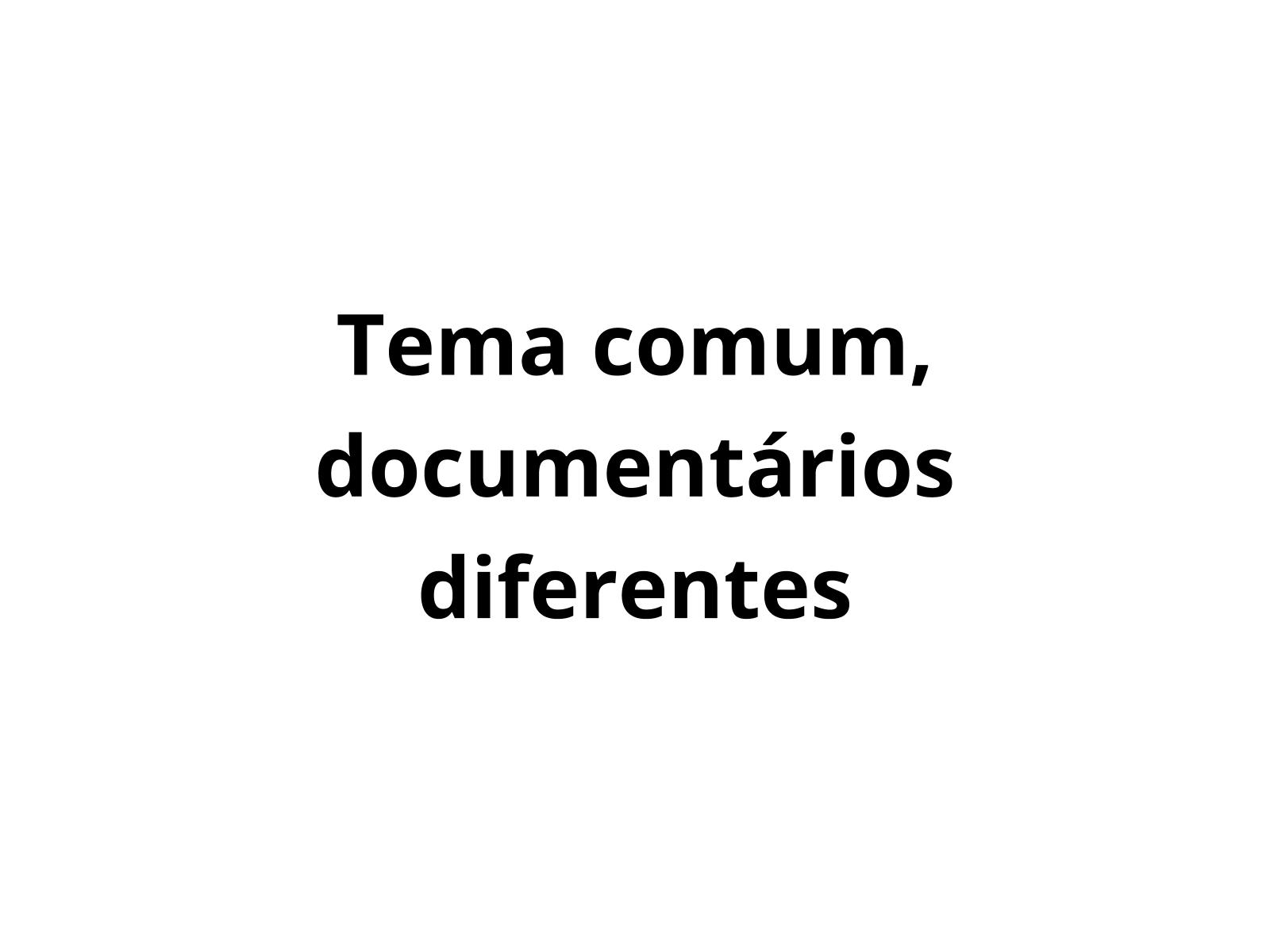 Relação temática entre documentários diferentes