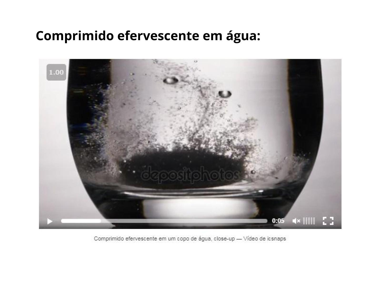 Formação de Gases em Transformações Químicas