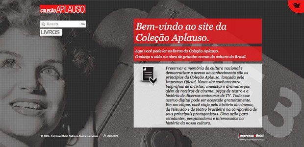 Coleção Aplauso - Livros para download gratuíto, Imprensa Oficial do Estado