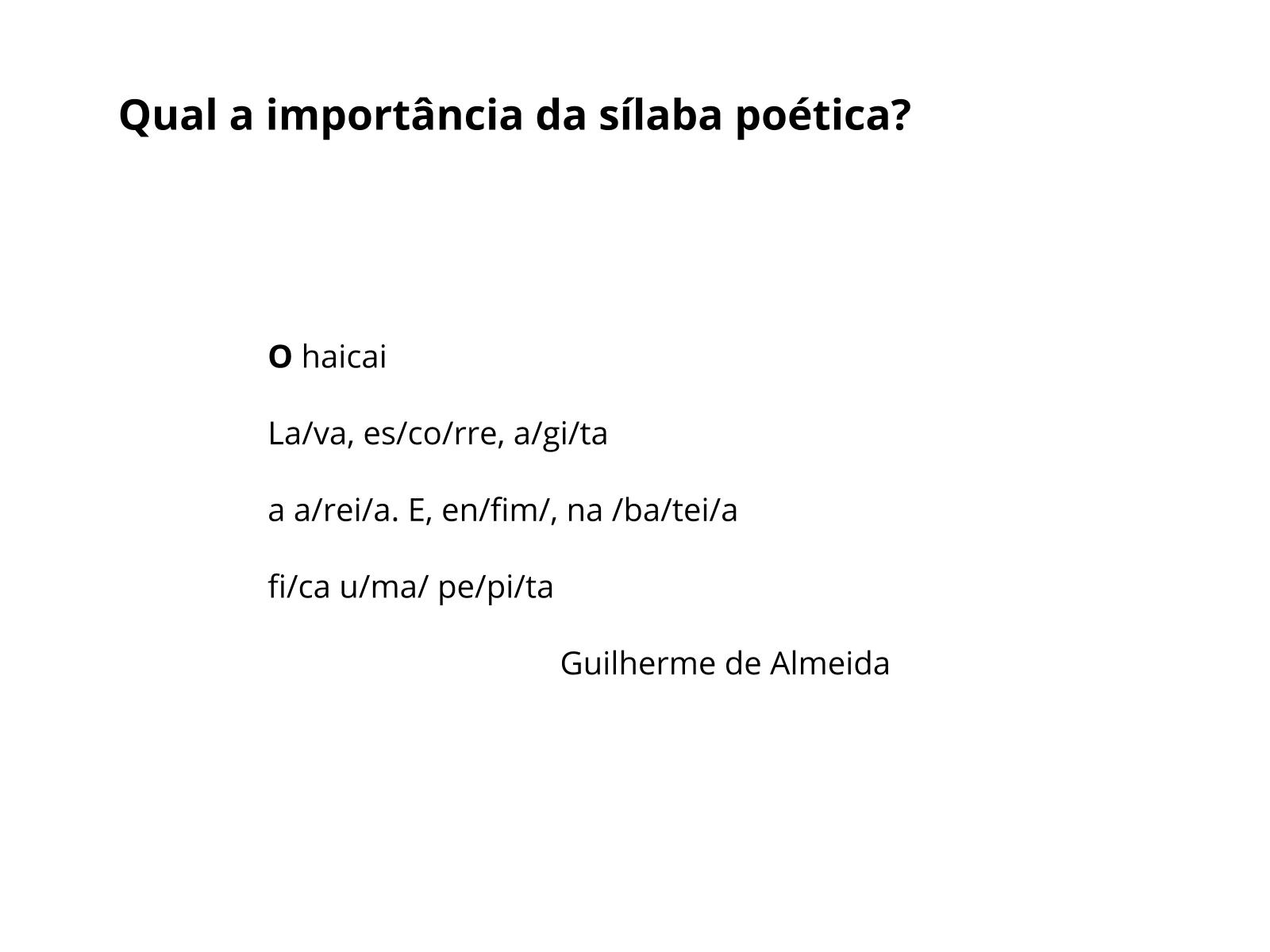 Plano De Aula 9º Ano Língua Portuguesa Metrificação No