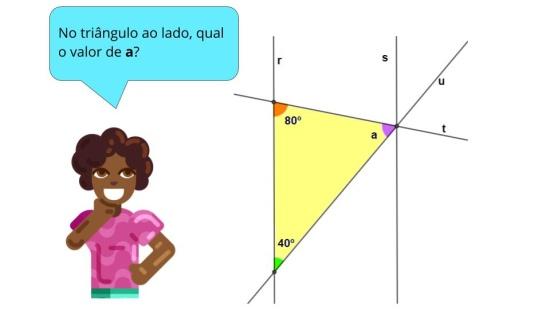 Paralelas, transversal, ângulos internos, quadriláteros, triângulos
