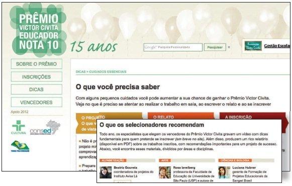 Novo site do Prêmio Victor Civita