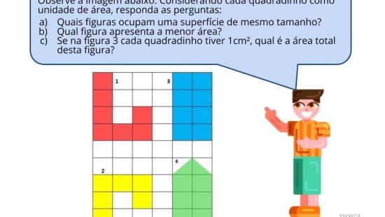 Comparando áreas em figuras planas diferentes