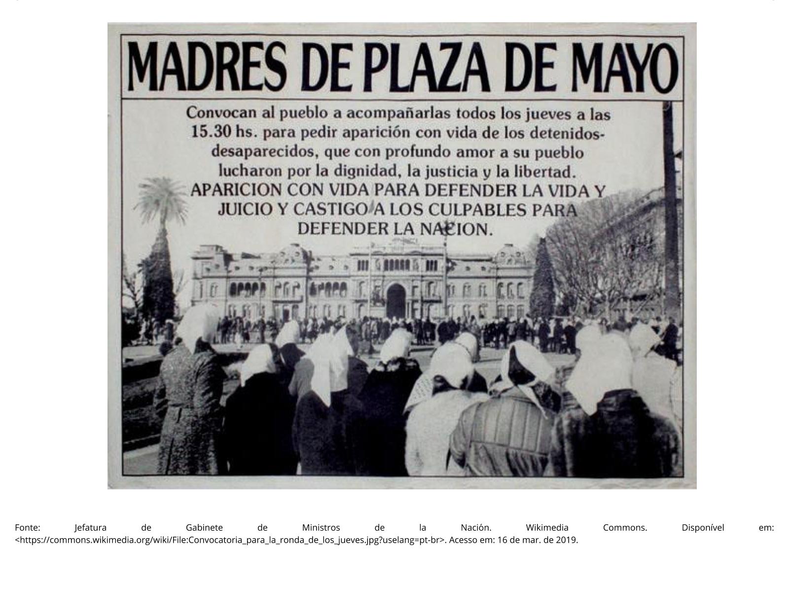 As mães da Praça de Maio e a resistência à ditadura civil-militar argentina (1976-1983)