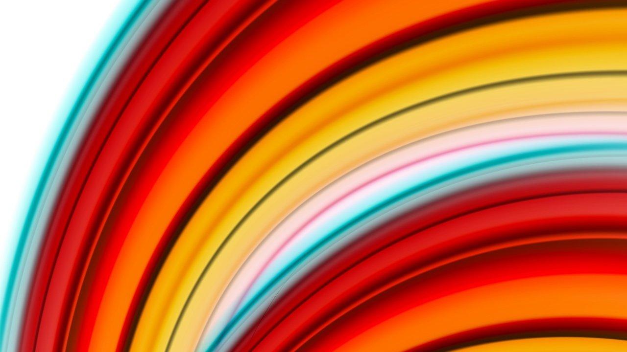 uma ilustração abstrata de várias linhas grossas como um semi círculo