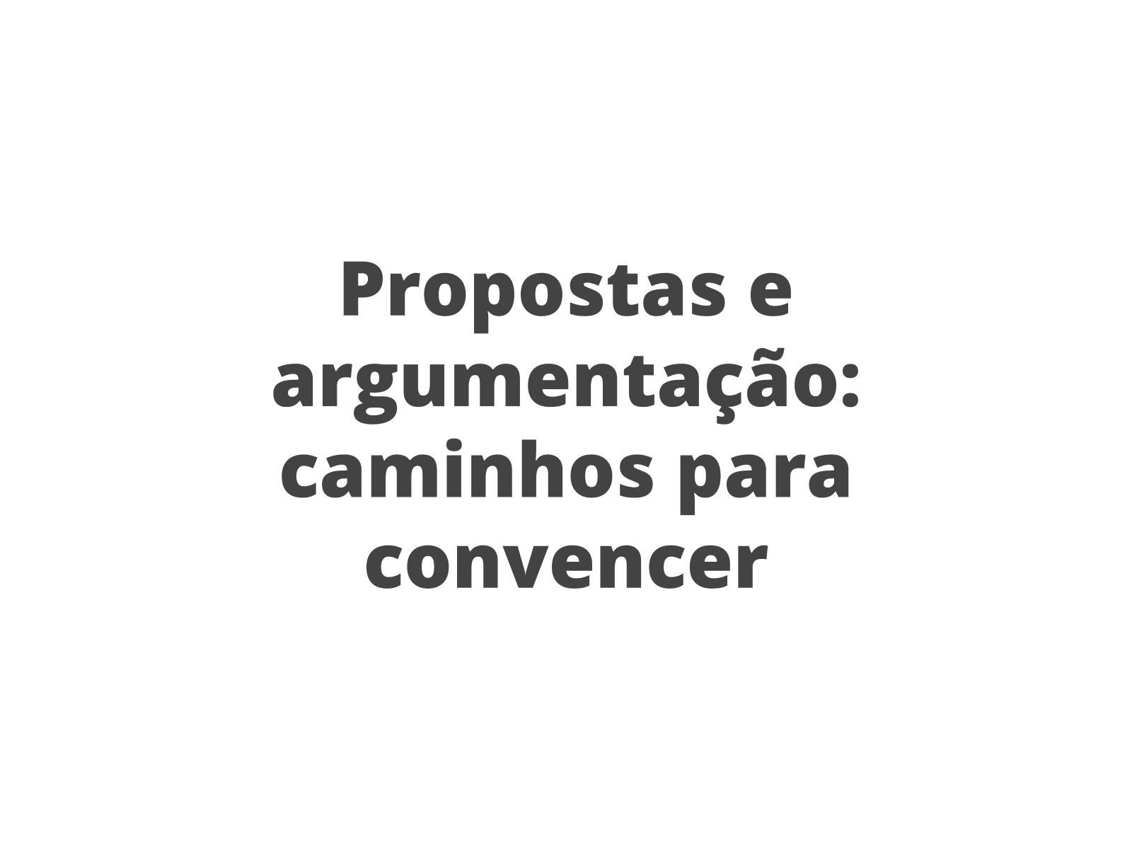 Argumentação e convencimento