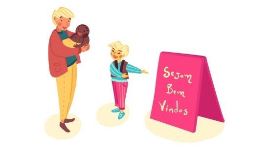 Adaptação: apresentação da escola para os bebês