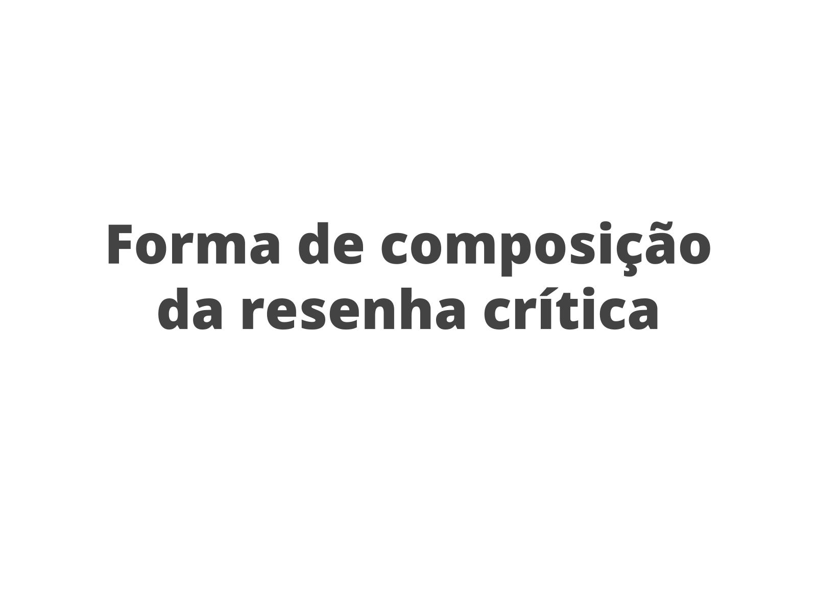 Resenha crítica - Análise Linguística / Semiótica