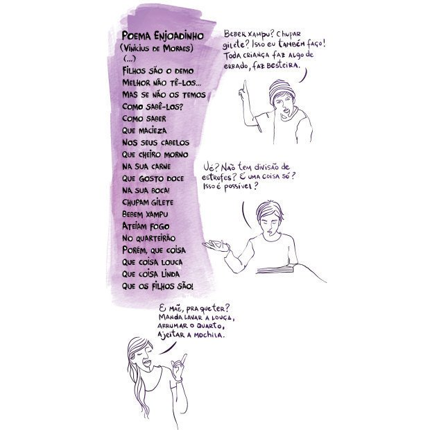 Quando o objetivo é ler e apreciar poesia. Ilustração: Melissa Lagôa