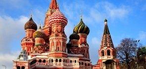 Kremlin e Catedral de São Basílio, em Moscou, na Rússia