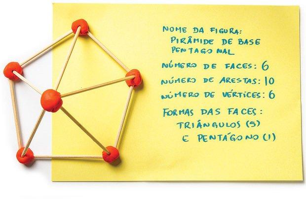 Montando objetos tridimensionais, discutiram-se ângulos, arestas e vértices. Ramón Vasconcelos