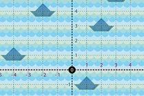 Na batalha naval adaptada, os navios ficam nas intersecções e só números são usados. 45jujubas