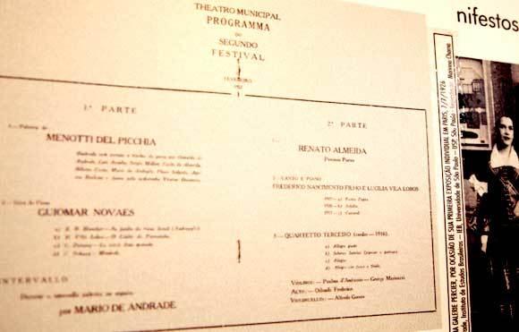 A programação da Semana de 1922