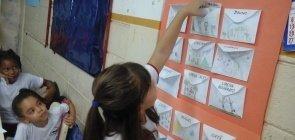 Como está a parede da sua sala de aula?