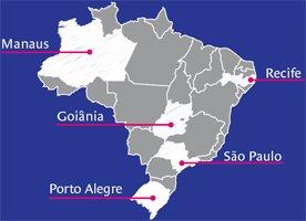 Cidades-sede das instituições pesquisadas. Ilustração: Bruno Algarve