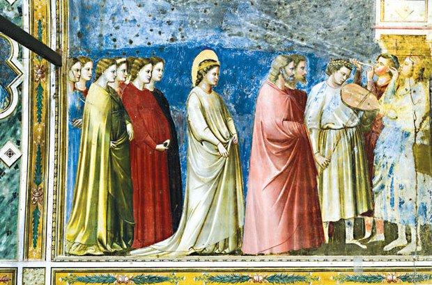 As figuras com semblantes parecidos foram observadas na obra de Giotto... Superstock