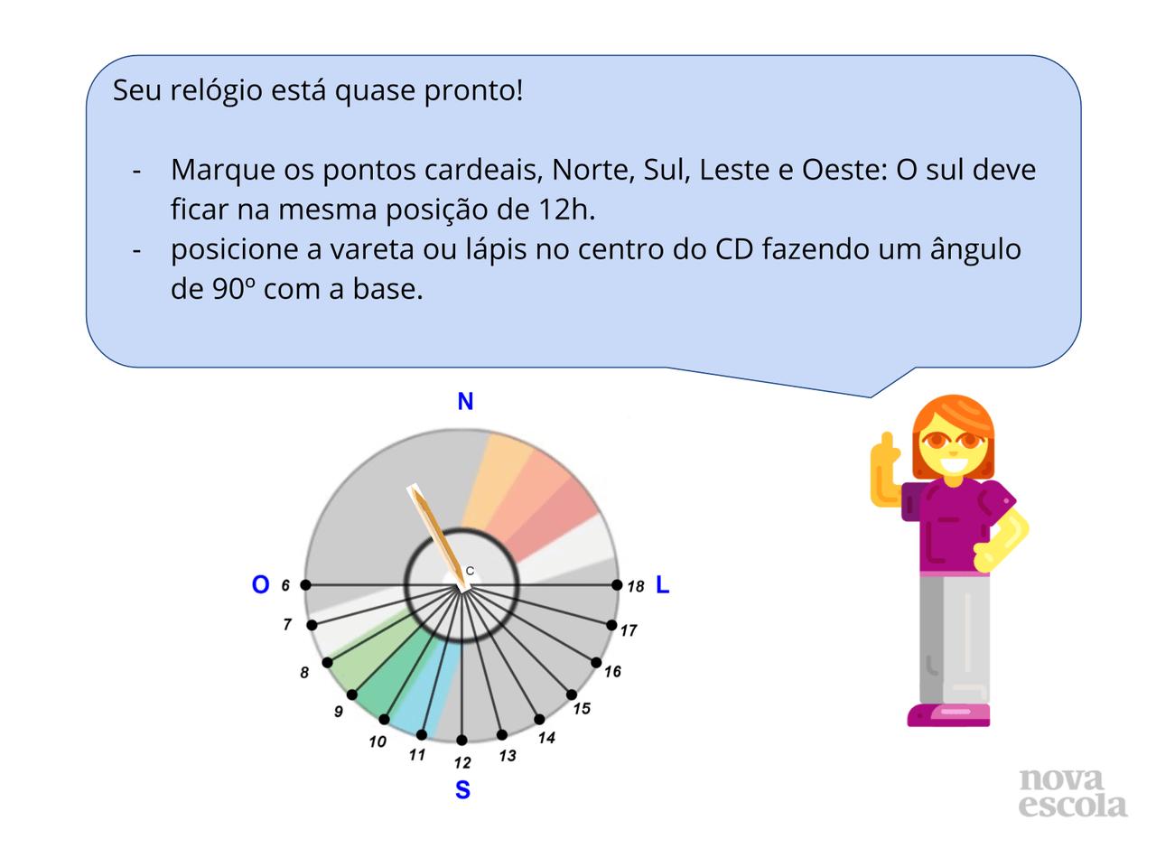 bc7f28fec13 Plano de Aula - 9º ano - Matemática - ângulos em um relógio do Sol