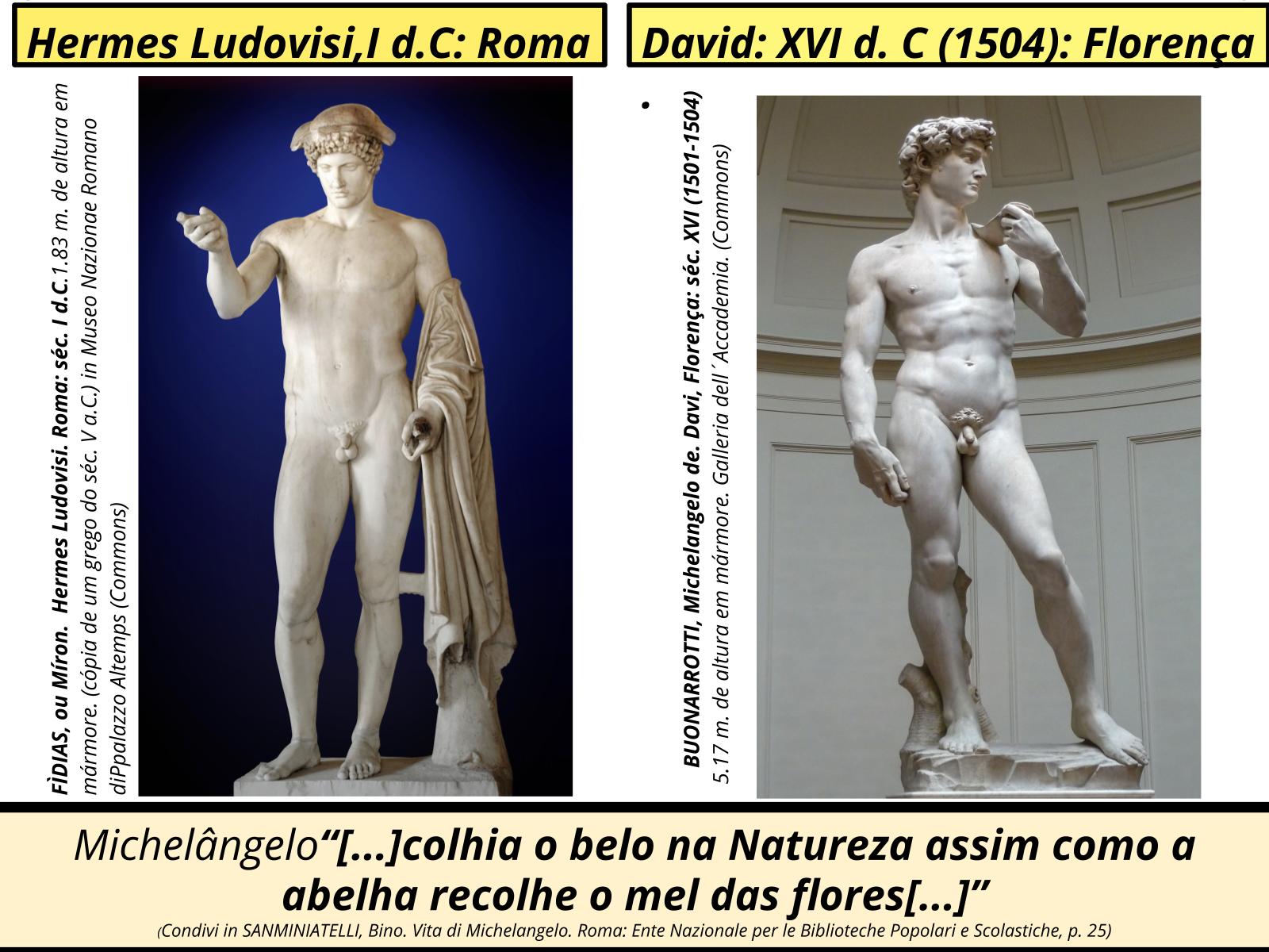 A arte renascentista - escultura