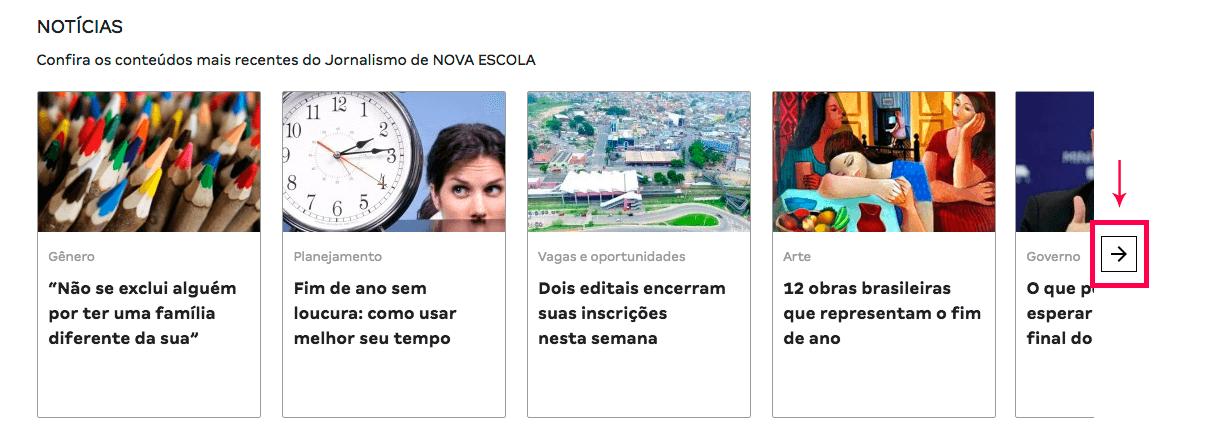 Novos blocos no novo site da NOVA ESCOLA