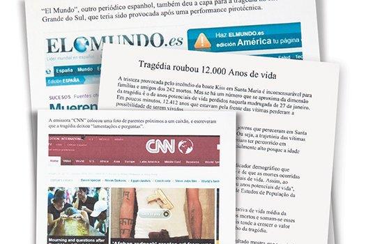 Incêndio na Boate Kiss. Reprodução/Elpais.com/El Mundo.es/O Estado de S. Paulo