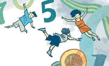 Educação financeira: do meu dinheiro quem cuida sou eu. Ilustração: Olavo Costa