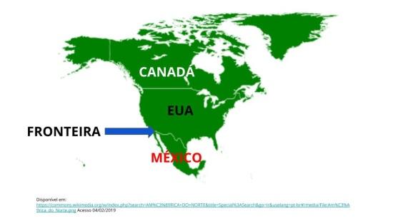 Tensões e conflitos entre as fronteiras do Estados Unidos e México.