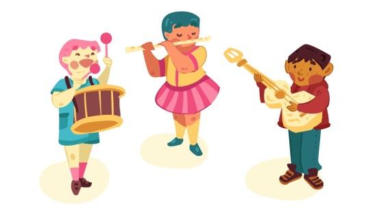 Nossa orquestra: explorando instrumentos musicais