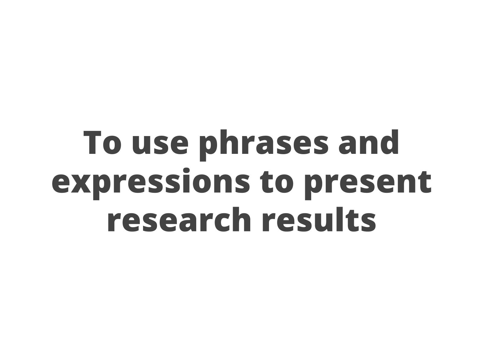 Apresentando resultados de pesquisas