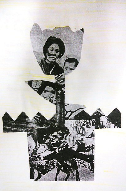A colagem é outro elemento presente nas obras de Isabel e na produção dos alunos. Arquivo pessoal/Isabel de Sá e Sirlene Rodrigues
