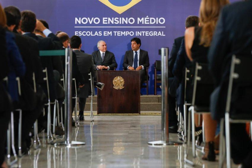MEC divulga Medida Provisória que reforma o Ensino Médio