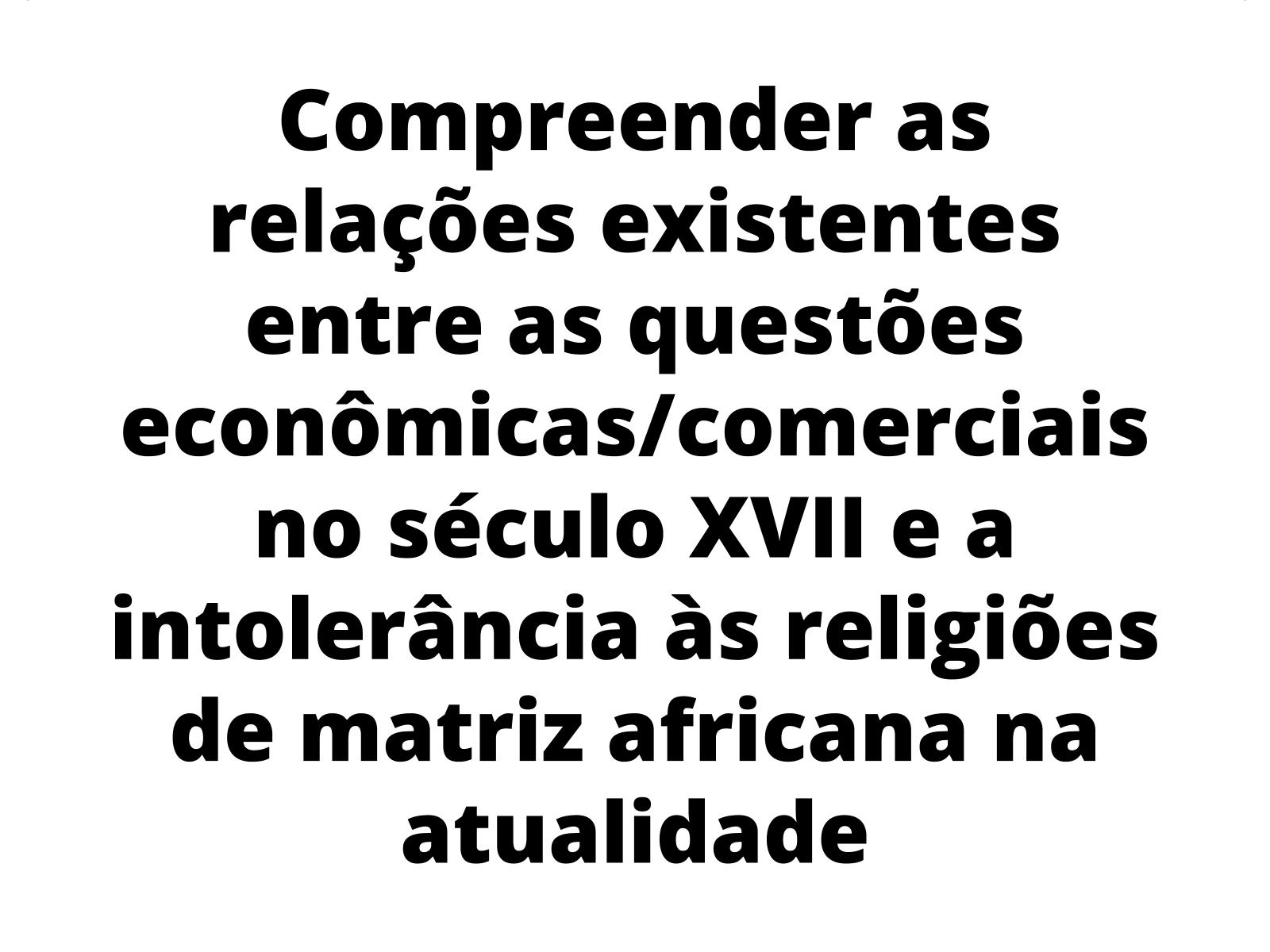 As questões comerciais e as religiões: um olhar para as religiões de matriz africana