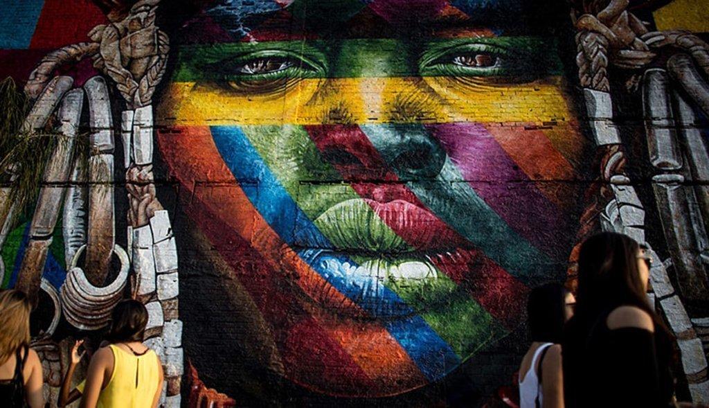 Mural do artista Kobra para os Jogos Olímpicos do Rio de Janeiro