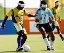 Seleção brasileira de futebol de 5, jogado por deficientes visuais: Campeã
