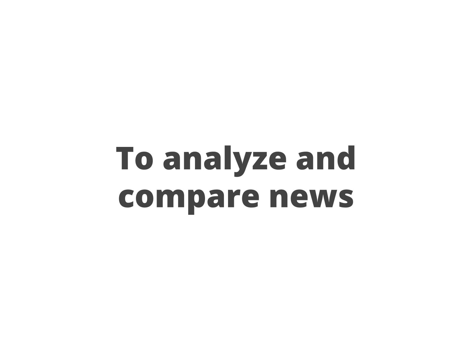 Leitura e comparação de notícias II
