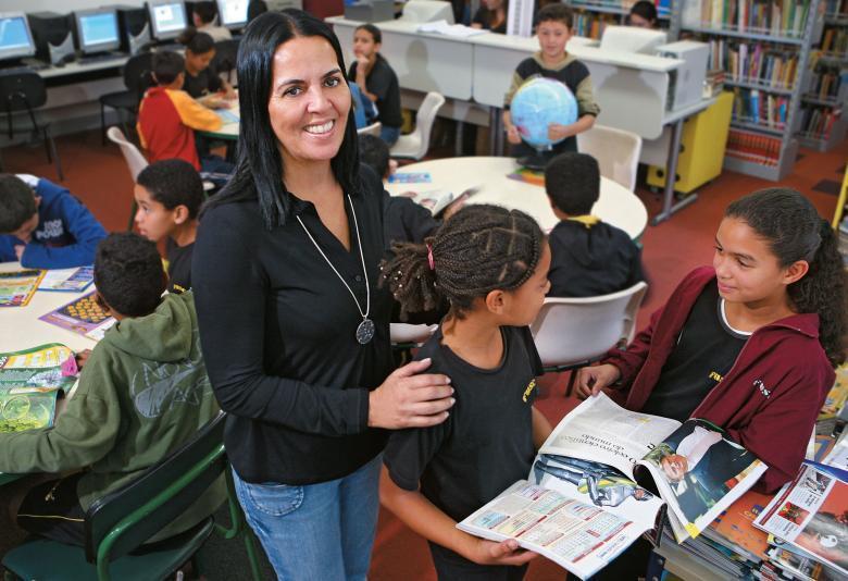 Revolução: Rosângela transformou a escola Francisco Brasiliense Fusco, em São Paulo,