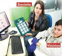 Daniela e Vinícius. Foto: Eduardo Lyra