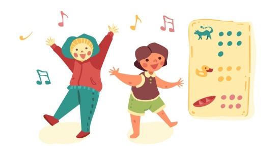 As crianças e suas danças