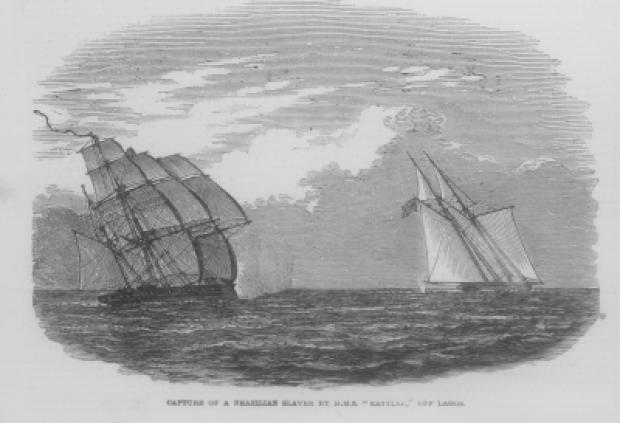 A embarcação H.M.S.