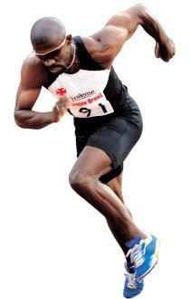 Se vivesse na Grécia Antiga, o velocista Eronilde Araújo, 79 kg, 1,82 m, além de atleta, seria um poderoso guerreiro. Foto: Eduardo Monteiro