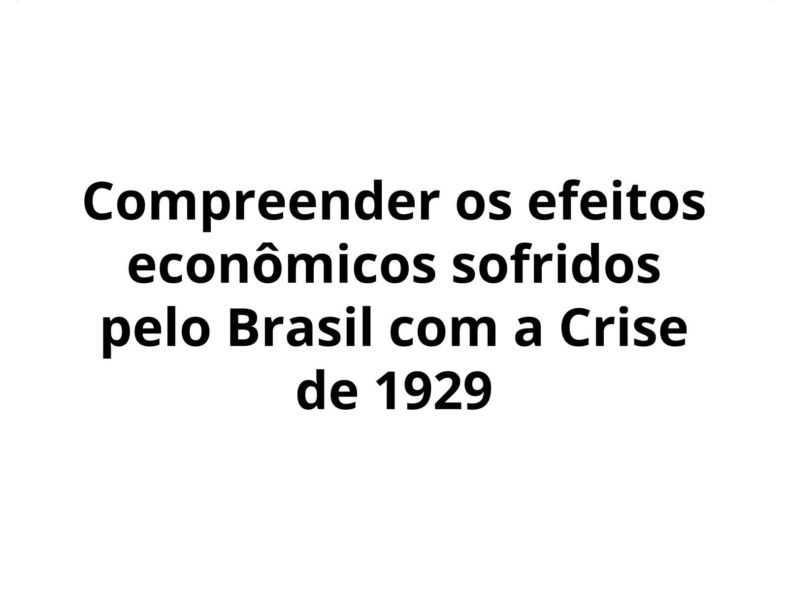 A crise de 1929 e seus efeitos no Brasil