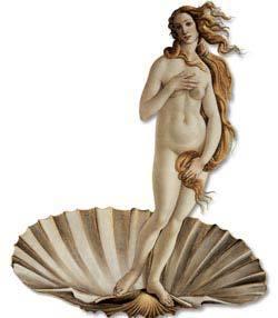 Detalhe de O Nascimento da Vênus, do pintor italiano Sandro Botticelli: tema da mitologia grega com abordagem e alcance universais. Foto: Summerfield Press/Corbis /Stock Photos