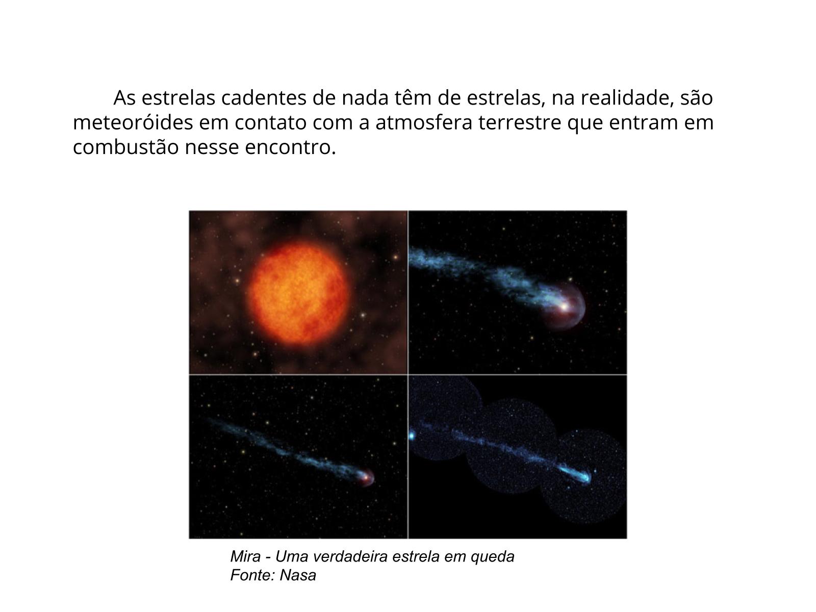 Desmistificando as estrelas cadentes