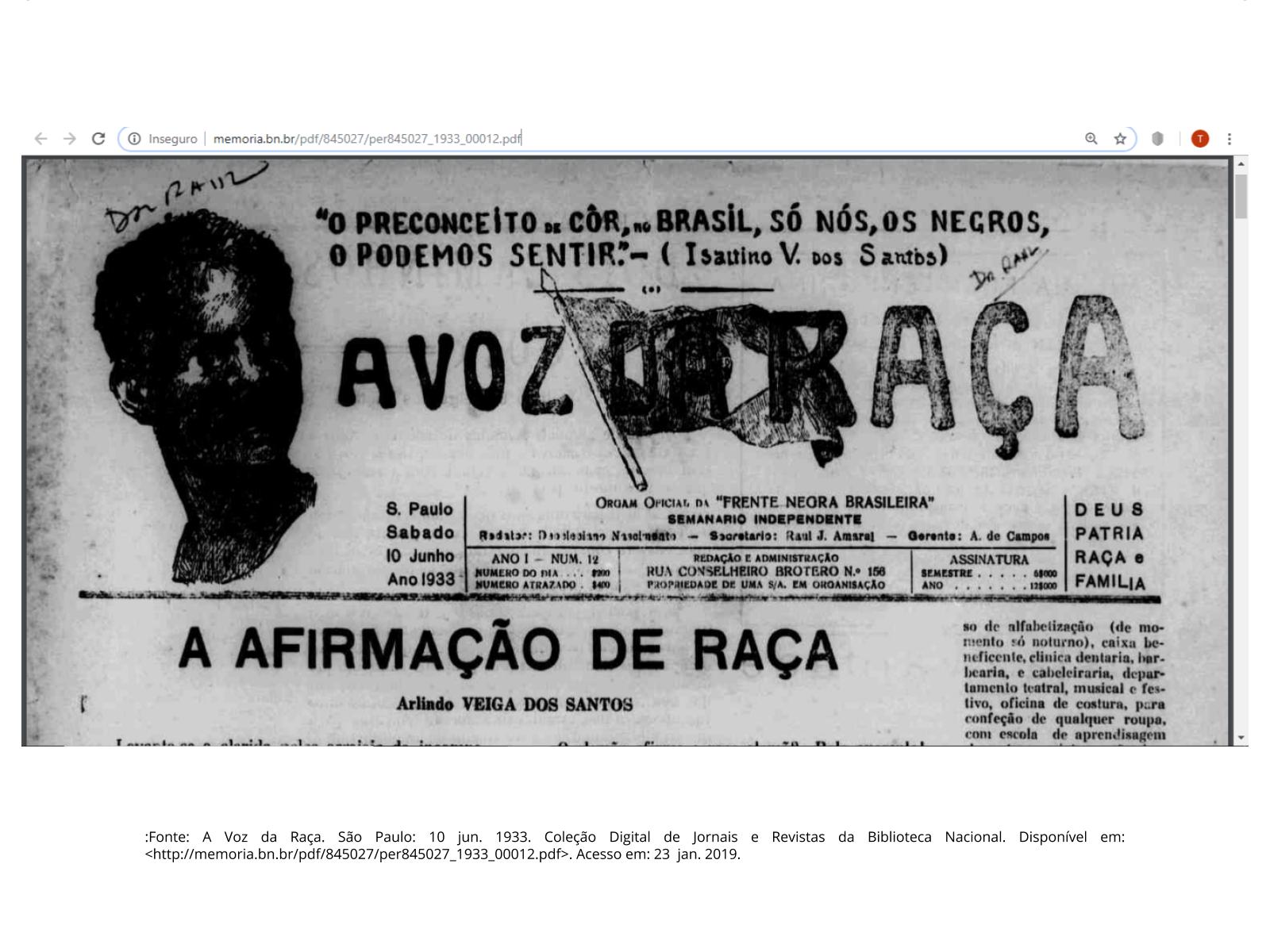 A importância do trabalho da Frente Negra Brasileira (FNB)