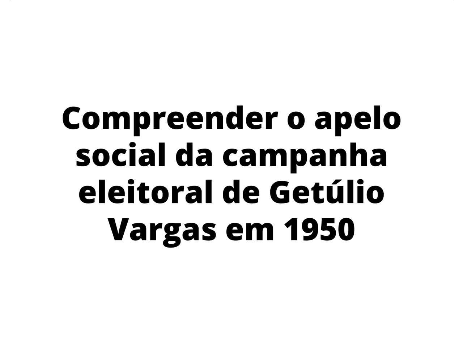 Vargas na redemocratização