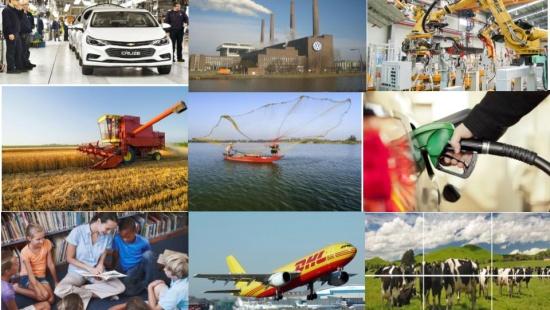A indústria e os demais setores da economia no Brasil