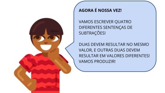 Ideias de igualdade em diferentes sentenças de subtrações