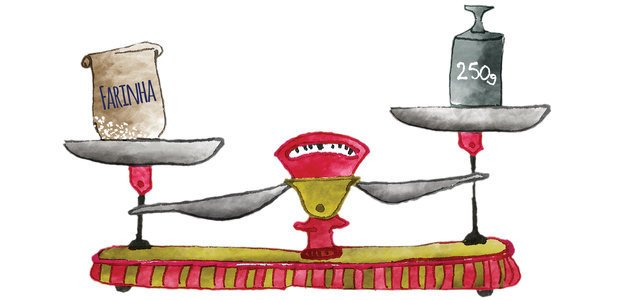 Receitas e desafios na medida certa. Ilustração Marcella Briotto