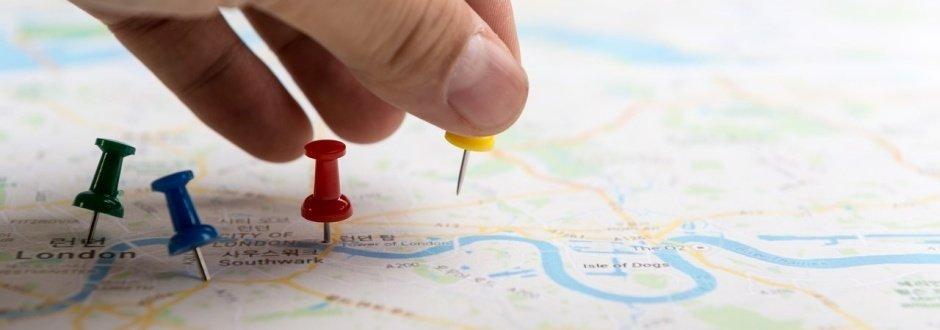 Marcando um ponto em um mapa