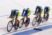 Equipe Brasileira de Ciclismo nos Jogos Pan-Americanos de Santo Domingo. Foto: Evandro Teixeira