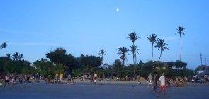 Praia de Jericoacoara no início da noite